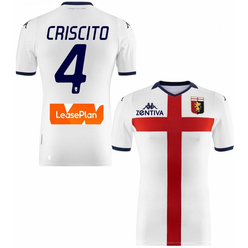 2019-20 GENOA MAGLIA AWAY CRISCITO 4 TAGLIA L