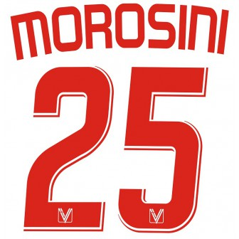 2007-08 VICENZA NAMESET HOME KIT MOROSINI 25