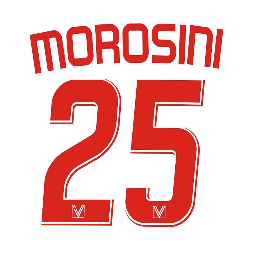 2007-08 VICENZA NAMESET HOME KIT MOROSINI 25