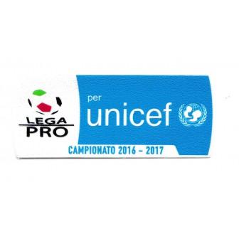 2016-17 PATCH UFFICIALE LEGA PRO UNICEF