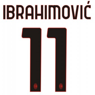 2020-21 AC MILAN NAMESET KIT NOME E NUMERO AWAY IBRAHIMOVIC 11