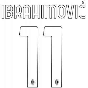 2020-21 MILAN HOME/THIRD OFFICIAL NAMESET IBRAHIMOVIC 11 ADULT