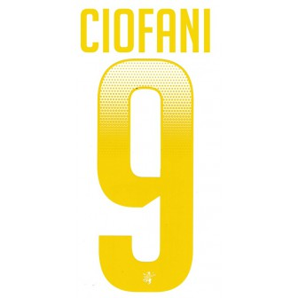 2018-19 FROSINONE KIT NAMESET THIRD CIOFANI 9