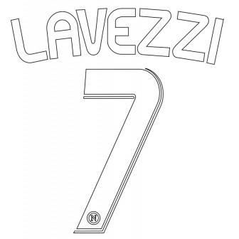 2008-09 NAPOLI NAMESET KIT NOME E NUMERO HOME LAVEZZI 7