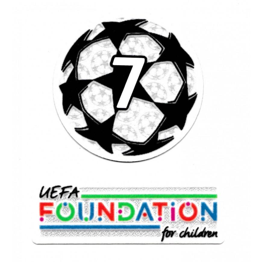 2021-22 PATCH MILAN UEFA CHAMPIONS LEAGUE 7 TROPHY + UEFA FOUNDATION