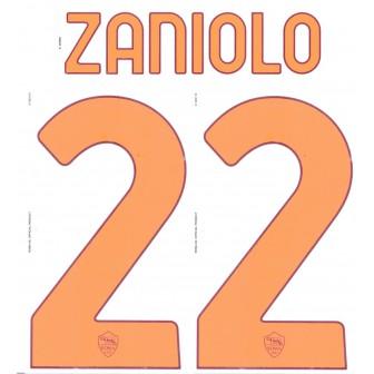 2020-21 AS ROMA NAMESET KIT NOME E NUMERO HOME ZANIOLO 22